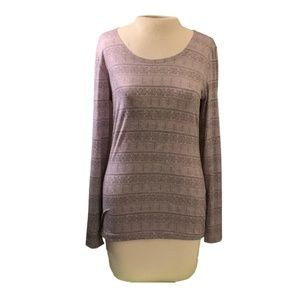 Long Sleeve T-Shirt, Grey, Patterned, 32 Degrees